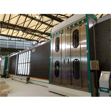 Insulating glass processing line with gas filling