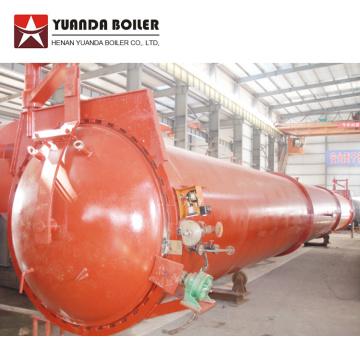 Autoclave horizontal para planta de mistura de concreto em bloco AAC