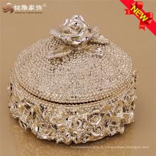 Perle de dentelle jewlery storage holder résine vase avec couvercle