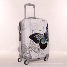 Vente en gros de cadeau de haute qualité Butterfly Bright Surface PC Pull Rod Box Universal Wheel Luggage