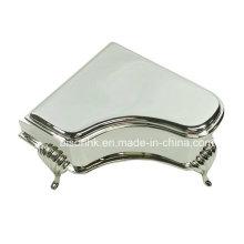 Estilo de piano caixa de jóias de metal, caixa de jóias shinning