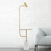 Modern marble base decoration floor lamp contemporary gold LED floor stand lamp