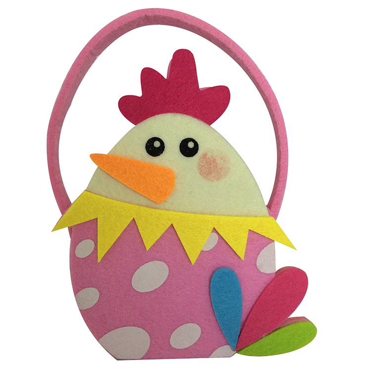 Colourful Easter Chick Shape Gift Bag