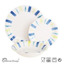 Juego de mesa de cerámica pintada a mano 18PCS, apta para microondas