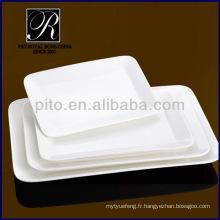 Usine de porcelaine P & T, plaques rectangulaires en céramique, plaques de viande, plaques durables PT-1152