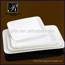 P&T porcelain factory,ceramics rectangular plates, meat plates, durable plates PT-1152