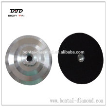 Aluminum backer pad for flexible polishing pads hot sale