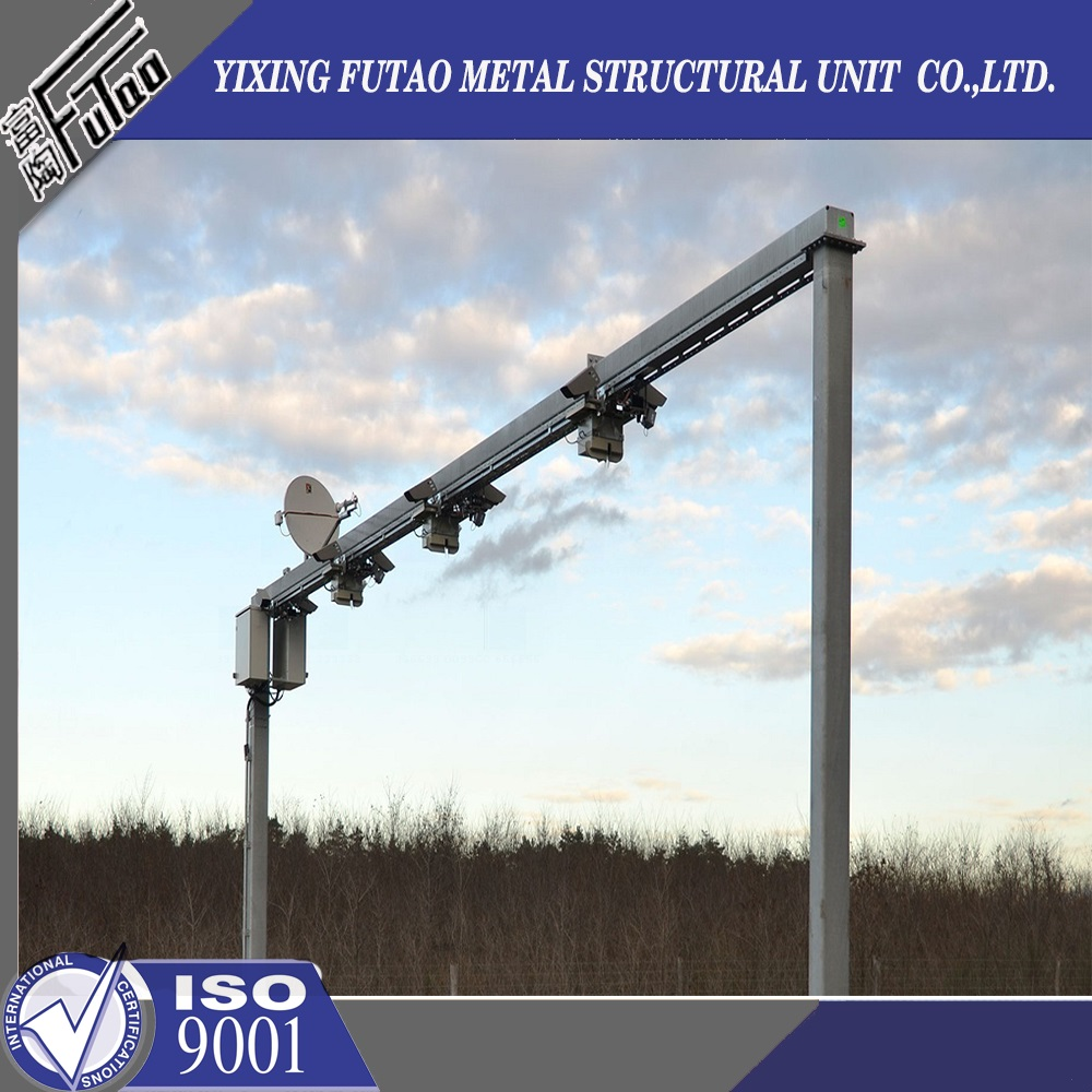 Galvanized Steel Monitor Steel Pole
