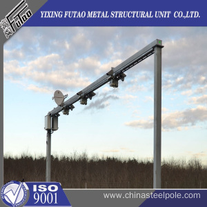 Hot dip galvanized steel cctv mounting poles