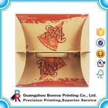 La pizza de nourriture de carton de papier fait sur commande le logo de dessin animé de boîte