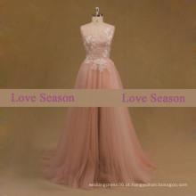 LSM003 appliques padrão vestido de baile dubai pesada vestidos de noite vestidos de peixe
