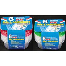 Rectangular Plastic Take Away Microwavable Lebensmittel-Container 9,5oz