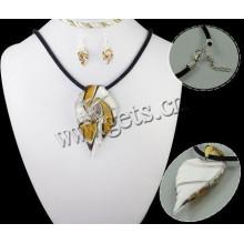 Gets.com 2015 lampwork china atacado 925 conjunto de jóias de prata
