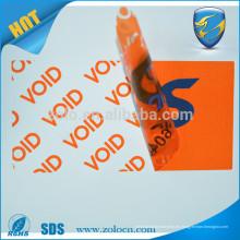 Vaciado abierto Etiqueta de no - transferencia etiqueta de seguridad etiqueta de seguridad para proteger el activo