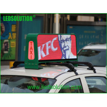 Ledsolution P5 Fulll Farbe LED Top Taxi Video Display