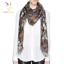 Bufanda de mariposa impresa pashmina de las nuevas mujeres del diseño para las mujeres