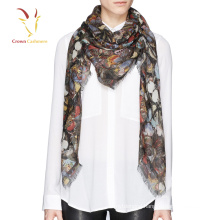New Design Women Pashmina Printed Butterfly Scarf For Women