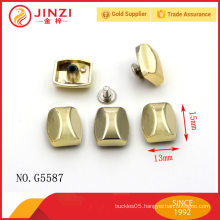 Promotional square shape rivets and studs for handbags parts