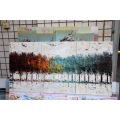 Pintura a óleo handmade da lona de 100%