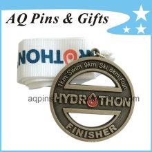 Médaille personnalisée en alliage de zinc avec fini graveleux