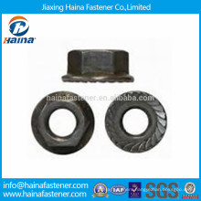 Grade 8 Carbon Steel Serrated Hexagon Flange Nut