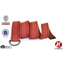 Cool children d ring belts made by woven cotton belt