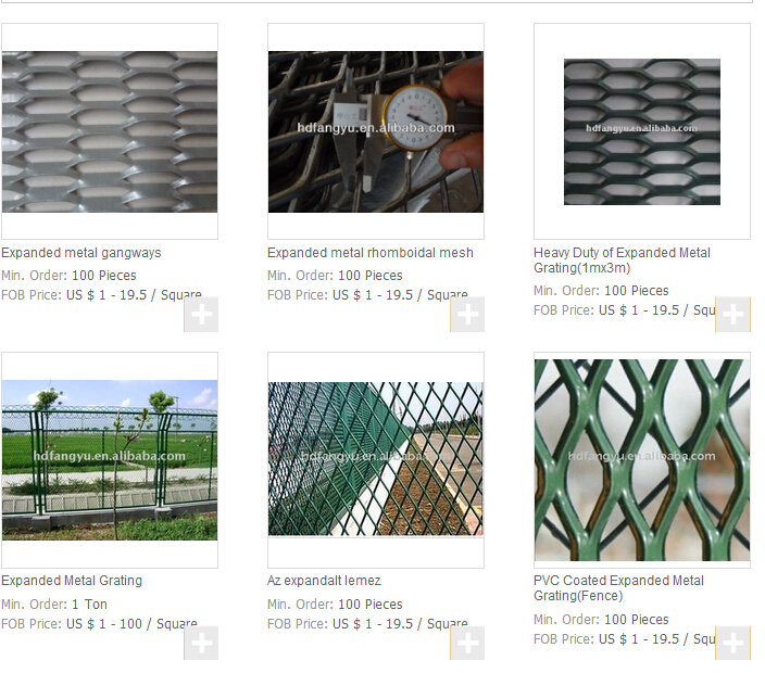 Expanded Metal Mesh Grating