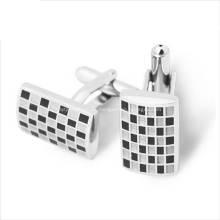 Großhandelsweicher Emaille-kundenspezifischer Manschettenknopf für die Hemden der Männer