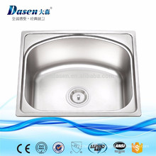 Stainless steel single bowl kitchen sink with wash tap