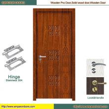 Китай ПВХ туалет двери ПВХ двери чисто деревянные двери