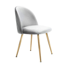 Commercial office leisure golden finish legs dining fabric chair for home furniture set