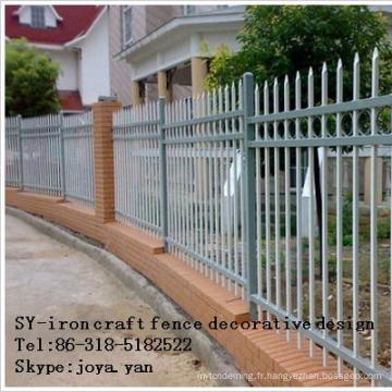 Conception décorative de barrière de métier de fer
