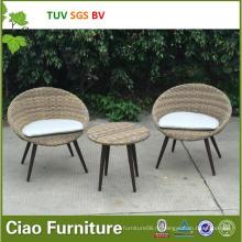 Уникальная садовая мебель синтетического напольного ротанга плетеная стол и стул