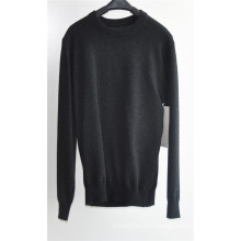 Круглый шею чистого цвета вязать свитер свитер для мужчин