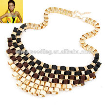 New Design hot sale short necklace/Charm Chunky Statement necklace