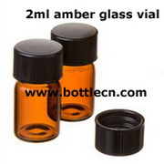 2ml amber glass vials for pharmaceutical, perfume and essential oil packing