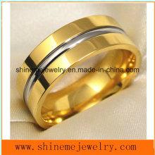 Shineme Moda de la joyería y oro de alta calidad plateado anillo de dedo Titanium (TR1842)