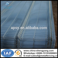 Galvanized or PVC coated heavy gauge 3D welded wire mesh fence panel