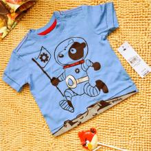Meninos crianças verão impresso t-shirt de manga curta solto
