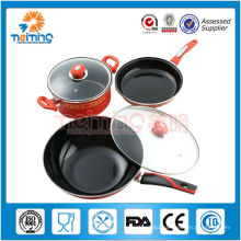 6pcs non-stick stainless steel cooking pot set