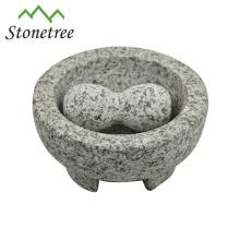 Broyeur Molcajete d'ustensiles de cuisine en pierre en gros de mortier et de pilon