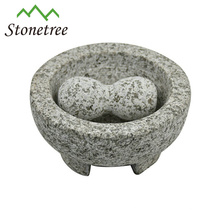 Wholesale Stone Kitchenware Mortar And Pestle Molcajete Granite Herb And Spice Mils