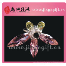 Чистый Рубиновый Цвет Кристалл Горный Хрусталь Бабочка Кольцо