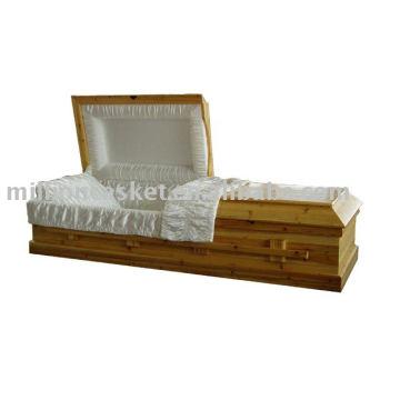 ataúd de cremación de abeto sólido