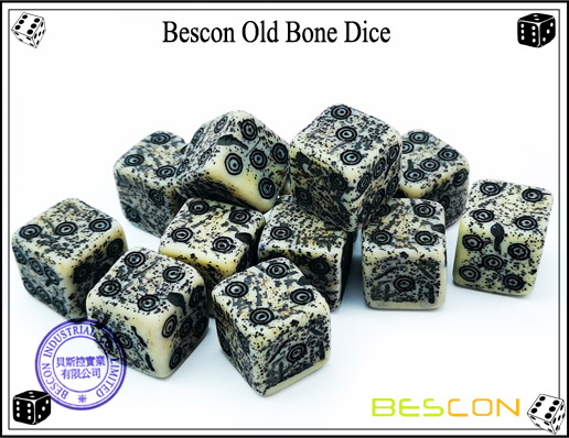 Bescon Old Bone Dice-1