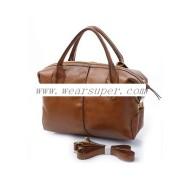 Fashion brown holiday leather handbag