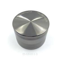 Molinillo de hierbas de metal cromado para trituradora de cigarros Hooka (ES-GD-011-L)