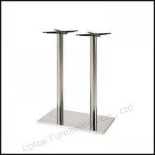 Base de table à barres en rectangle à deux colonnes en acier inoxydable (SP-STL058)
