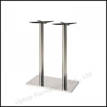 Two Column Stainless Steel Rectangle Bar Table Base (SP-STL058)