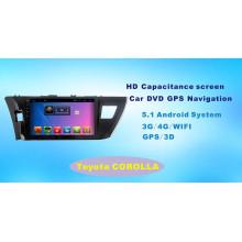Автомобильный GPS-навигатор с системой Android для Toyota Corolla 10,1-дюймовый сенсорный экран с Bluetooth / TV / MP4